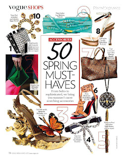 Indian Fashion Trends: Vogue Spring Fashion: 50 Must Have Accessories (Part-1)