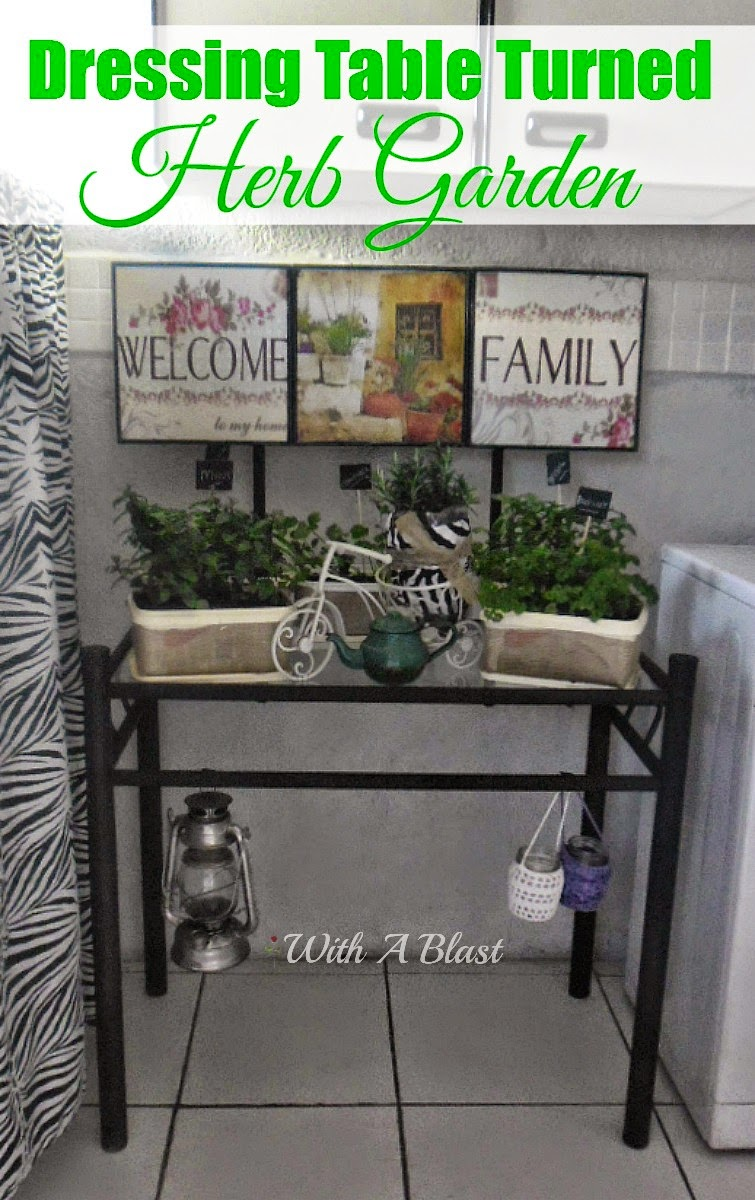 Dressing Table Turned Herb Garden ~ Turn an old dressing table into a Herb Garden easily #HerbGarden #Recycling #RepurposedCraft #DIY #Gardening