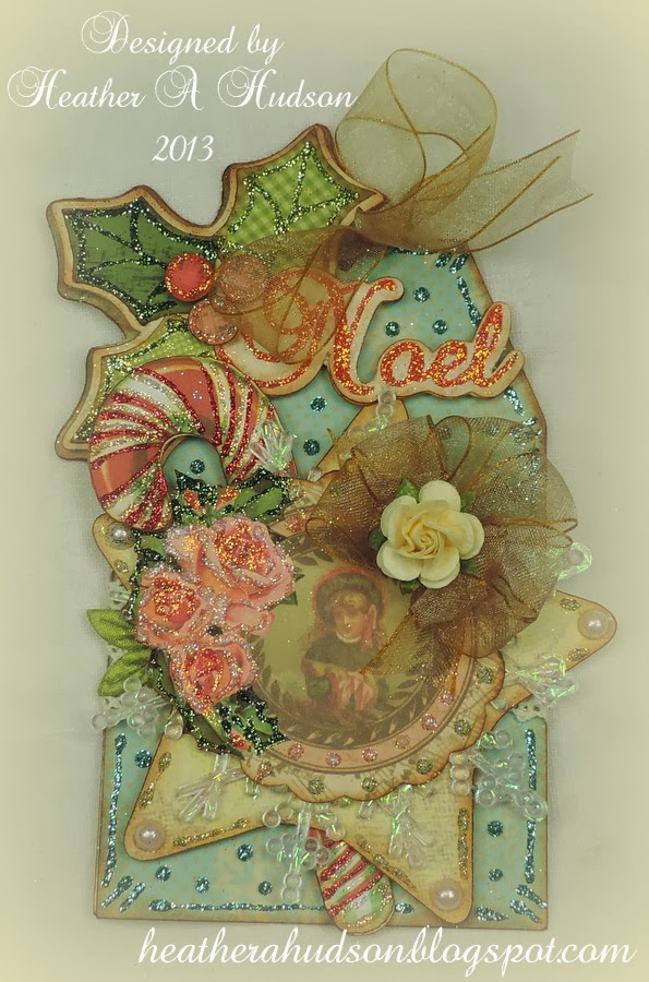 Heather a hudson shabby chic noel christmas tag for Table de noel shabby chic