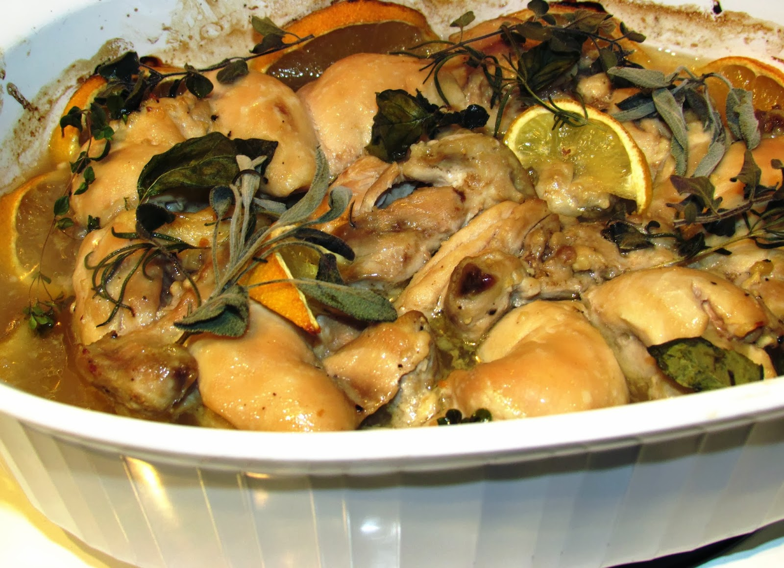 a second glance.: Garlic-marinated roasted chicken thighs ...