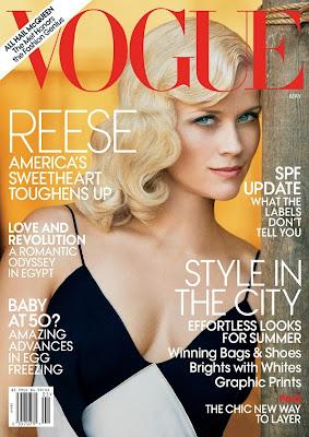 Ensaio lindíssimo da Reese Witherspoon para  American Vogue.