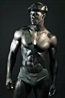 Hot Chocolate Flavors Black Muscular Hunks
