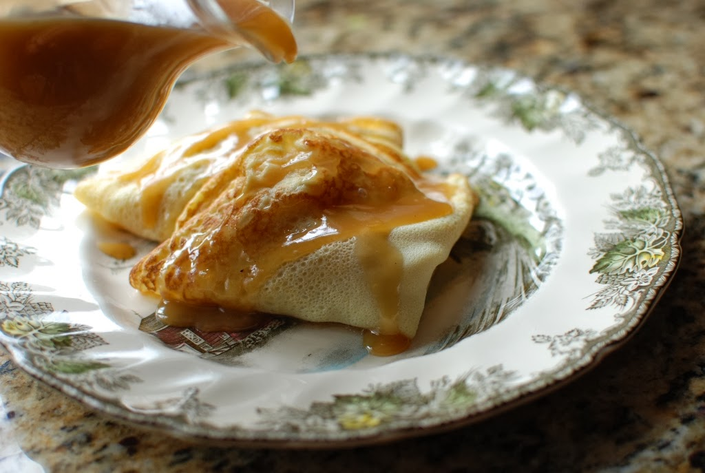 Simply So Good: Apple Crepes with Caramel Sauce
