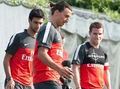 Ibrahimovic golpeó a tres jugadores del PSG