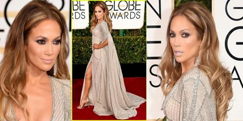 """Kecelakaan Kecil"" Jennifer Lopez di Golden Globe Awards"