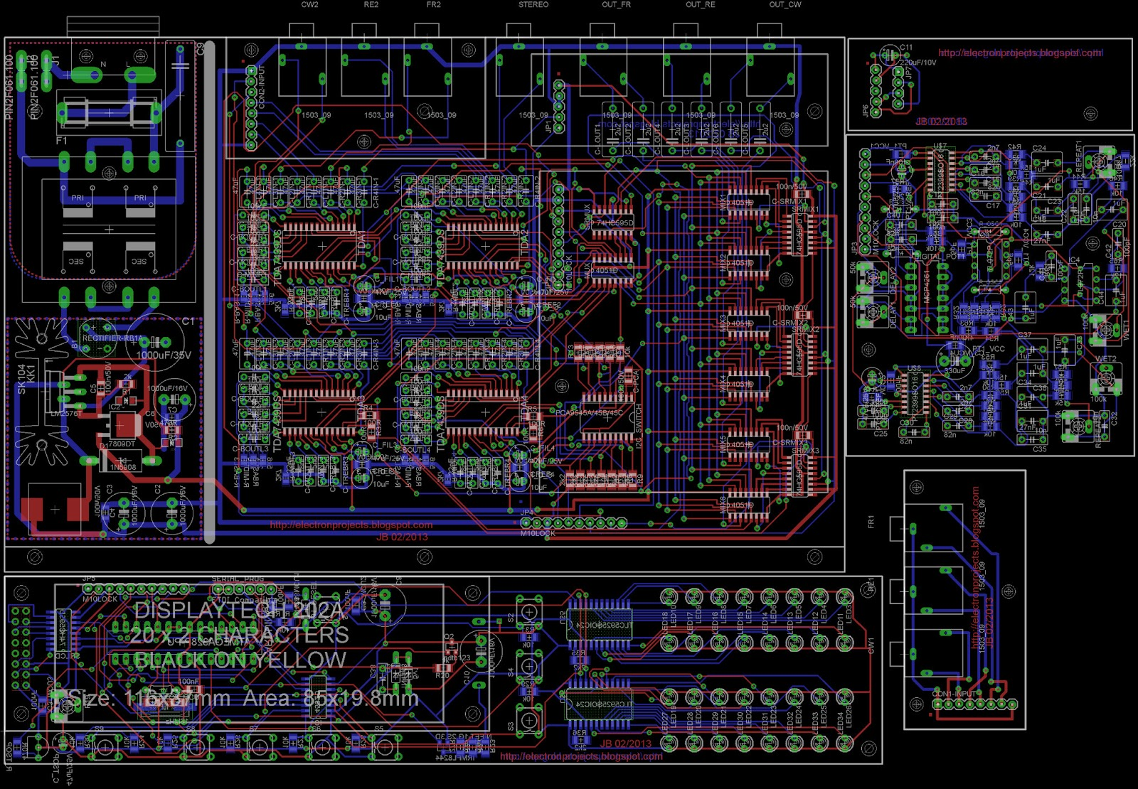 Arduino Audio Mixer Schematic Trusted Schematics Diagram Lm3900 Electronic Projects Tda7439ds Hef4051 5 1 Diy Remote Board