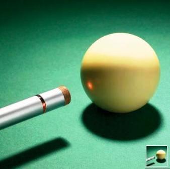 Curiosidades de la bola blanca de billar.