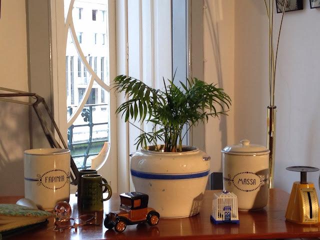 vintage, cerâmica, cozinha, a Porta Verde