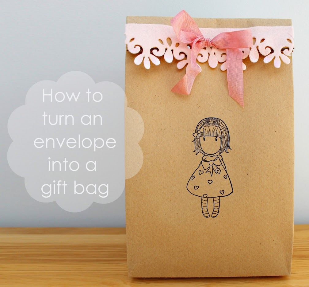 How To Turn An Envelope Into A Gift Bag Craft Me Happy How To