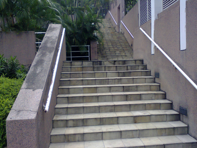 Damansara Uptown secret garden staircase from Jalan SS21/39