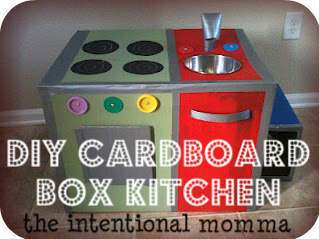 cardboard box kitchen craft project idea