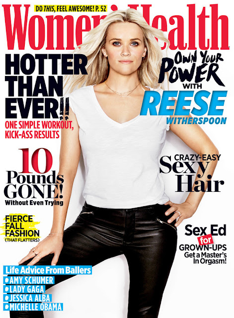 Actress @ Reese Witherspoon for Women's Health US, October 2015