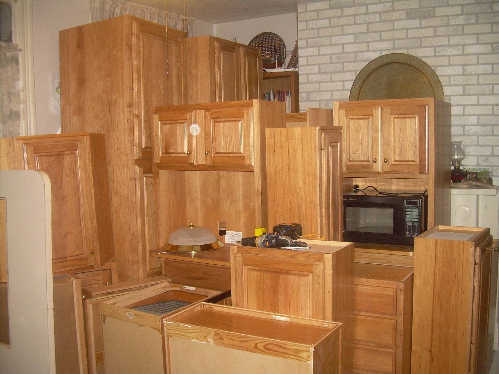 The cabinets, after transporting them from their old home in VA to
