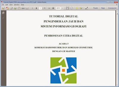 Koreksi Radiometrik dan Koreksi Geometrik dengan ER Mapper www.guntara.com