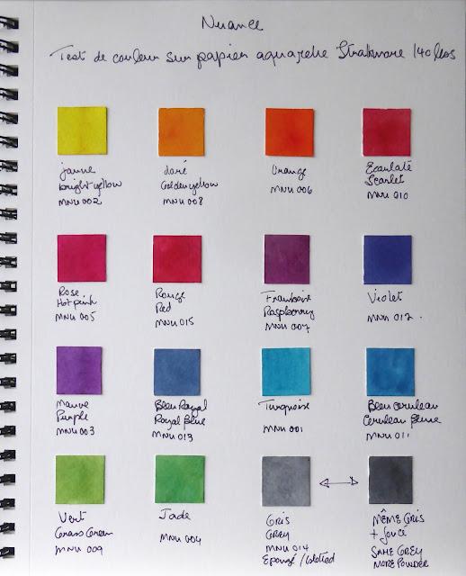 magenta nuance test de couleur nuance colour swatches. Black Bedroom Furniture Sets. Home Design Ideas