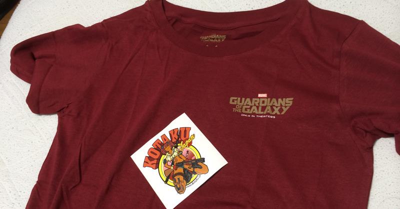 Kotaku Japanさんで『ガーディアンズ・オブ・ギャラクシー』なりきりロケットTシャツが当たったぞー!