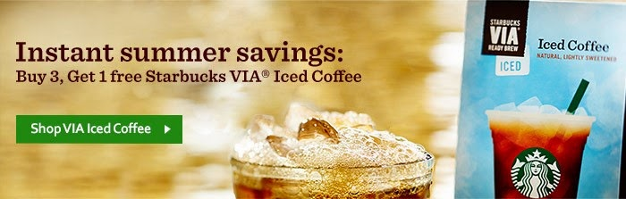 Buy 3, Get 1 **FREE** Starbucks VIA Iced Coffee