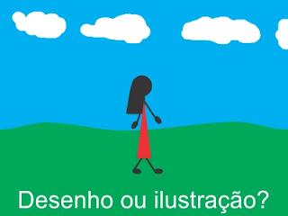 Menina andando - desenho ou ilustração?