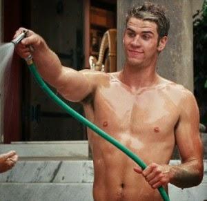 Liam Hemsworth's Wet Hairy Armpits