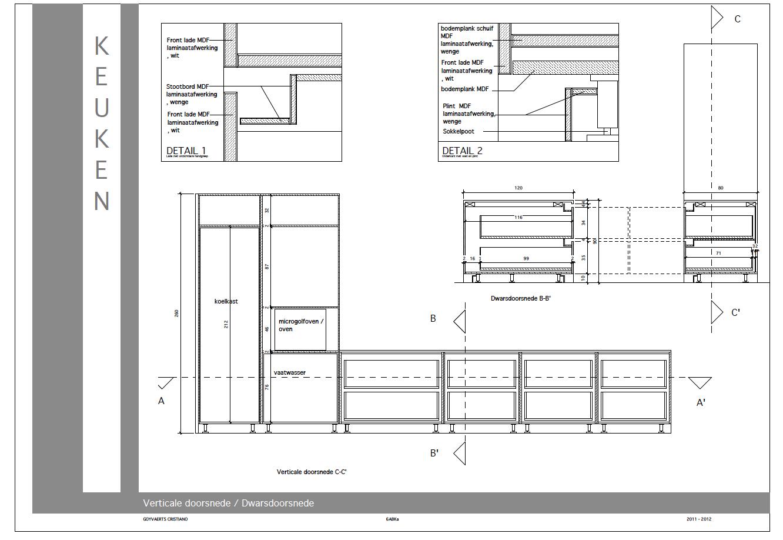 Architecturale en binnenhuiskunst gip for 3d tekening maken keuken