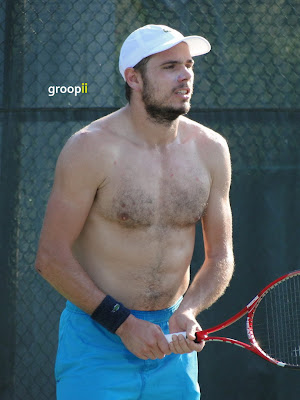 Stanislas Wawrinka Shirtless at Cincinnati Open 2010