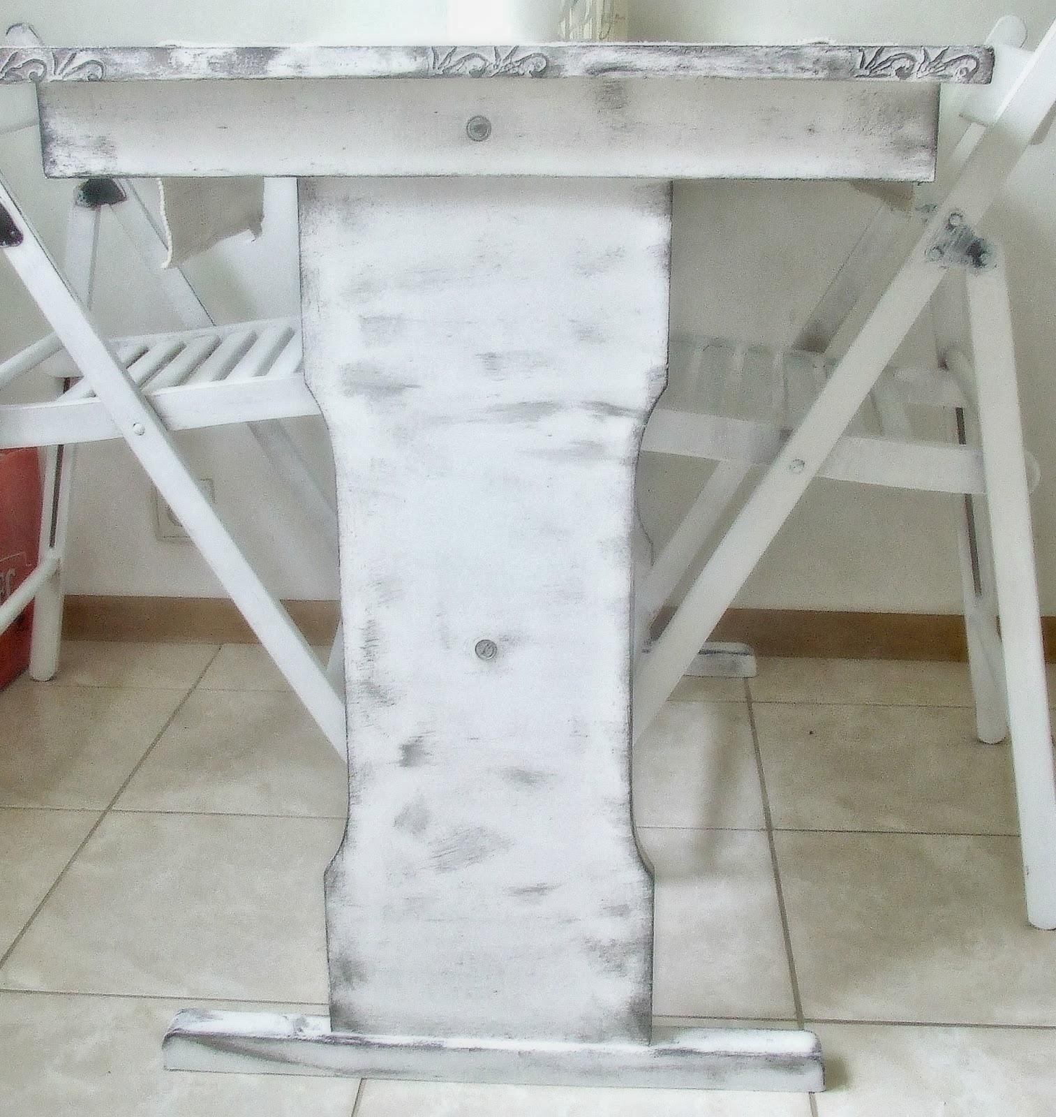 stół w stylu rustykalnym pomysł DIY