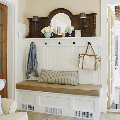 Divine consign diy mudroom for Foyer storage ideas