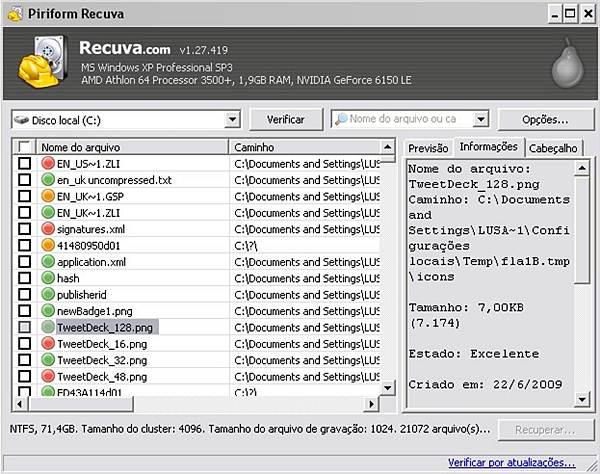 Recuva – Programa para recuperar arquivos deletados