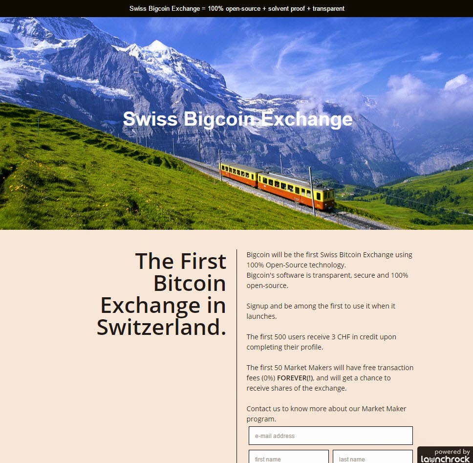 Bigcoin.ch - The First Bitcoin Exchange in Switzerland, 100% open-source + solvent proof + transparent