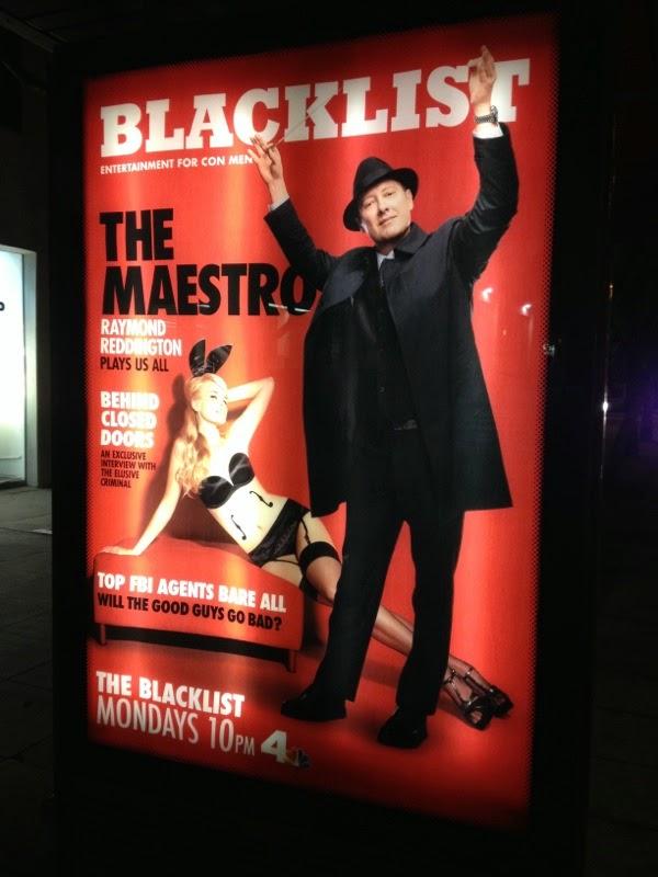 The Blacklist season 2 Playboy magazine homage poster
