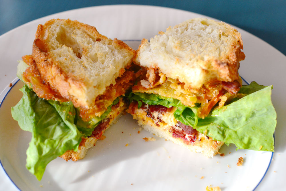 The World in My Kitchen: Fried Green Tomato BLT with Pimento Cheese
