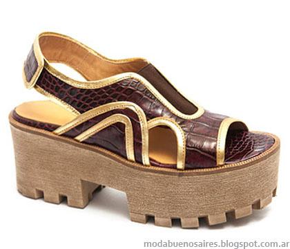Sandalias texturadas verano 2015 Traza zapatos.