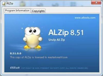 ALZip 8.51 With Key