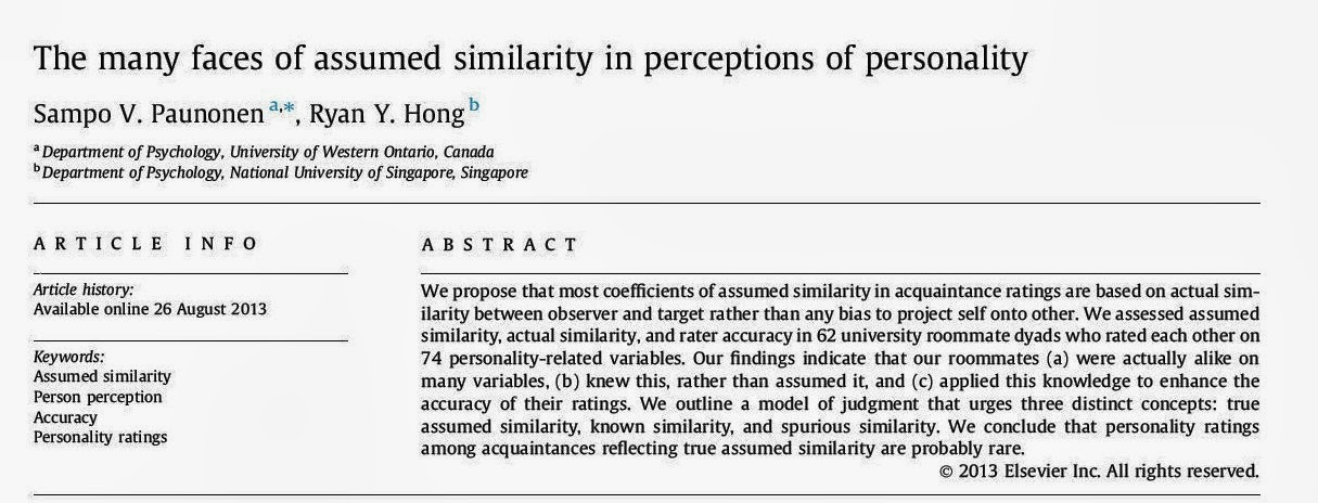 effects of perceptions of similarity on As predicted, we found that similarity in level of dysphoria was associated with greater accuracy in detecting the magnitude of the partner's sympathy ratings, but only for perceptions of strangers after one's own disclosure of a personal problem no effects were significant in the analysis of ratings after the warm-up conversation.