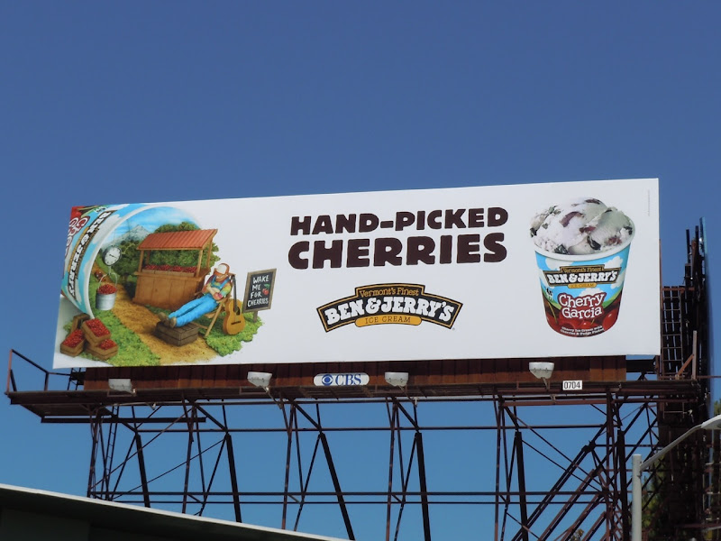 Ben and Jerry's Hand-picked Cherries billboard
