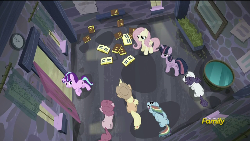 The Mane Six locked in the house