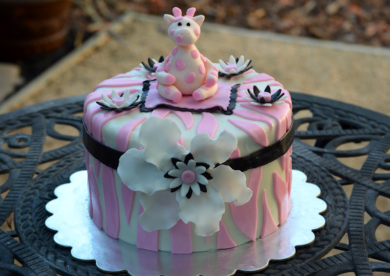 traylor made treats animal print baby shower cake cupcakes
