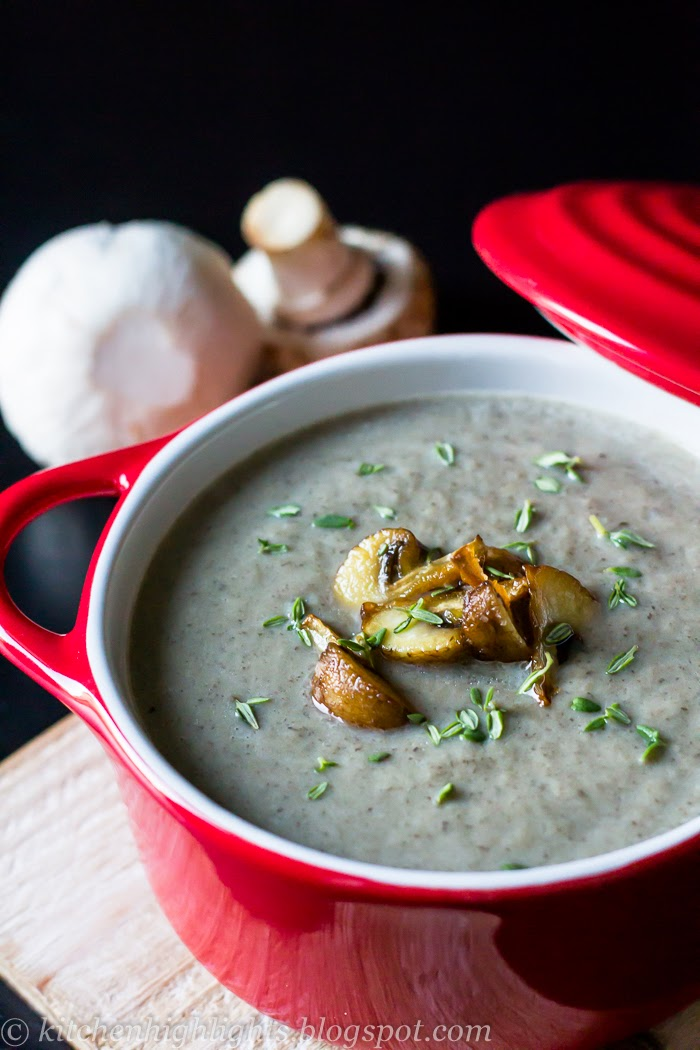 This cream of mushroom soup is rich, thick and flavorful
