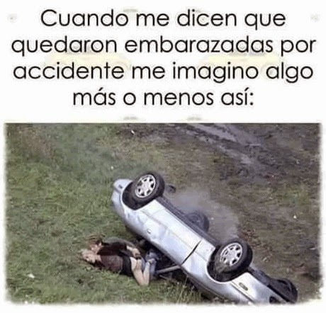 embarazadas por accidente