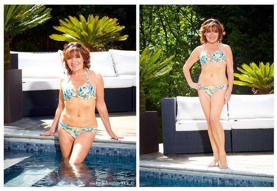 Lorraine Kelly strips down to her bikini
