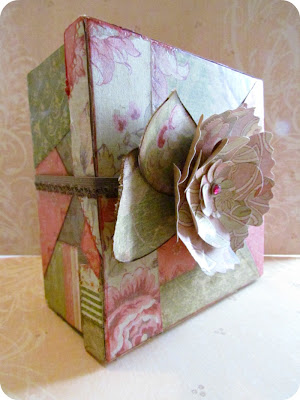 Mod Podge Box, Crazy Quilt, Crazy Quilt Box, Crazy Quilt with paper, DIY Decorative Box, how to decorate a box, easy papercrafts