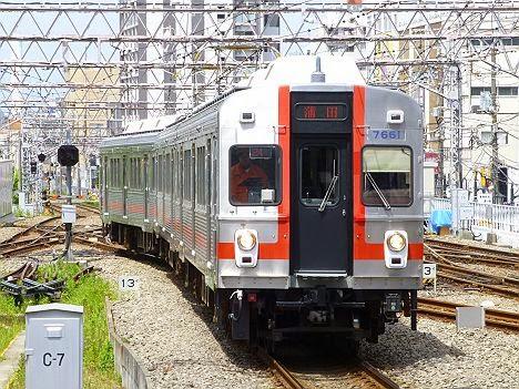 東京急行電鉄池上線 蒲田行き2 7600系7601F(歌舞伎塗装)