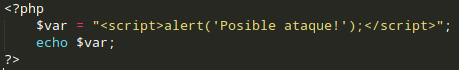 Ejemplo de código que permite inyección