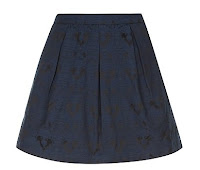 New Look navy skater skirt