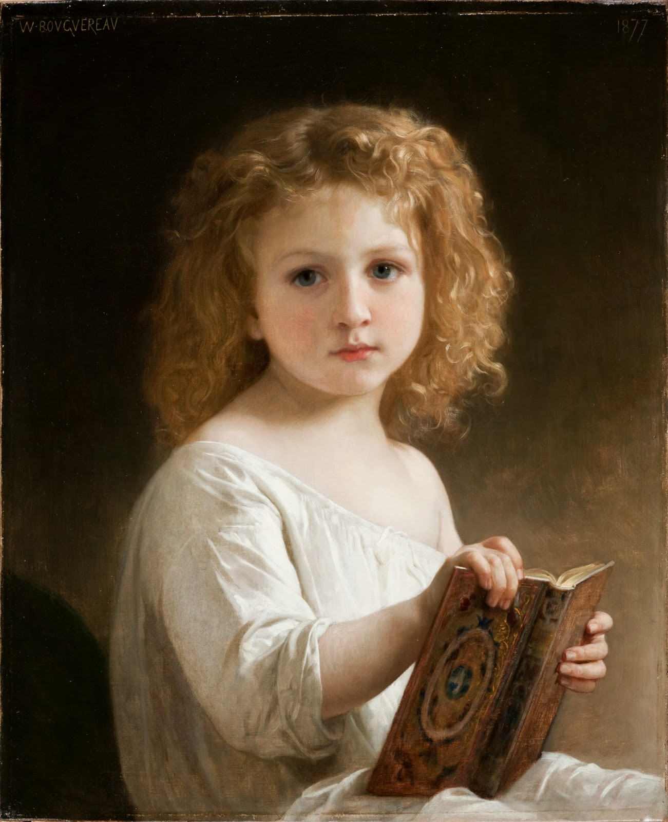 The Story Book, by William-Adolphe Bouguereau, Photo by Mary D. Keeler Bequest (Creative Commons)