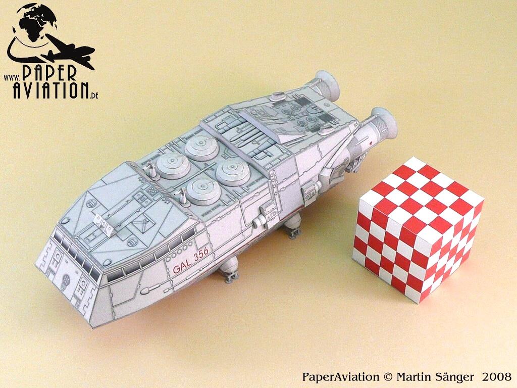 Papercraft Clic Battlestar Galactica Shuttle