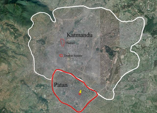 Mapa de Kathmandu