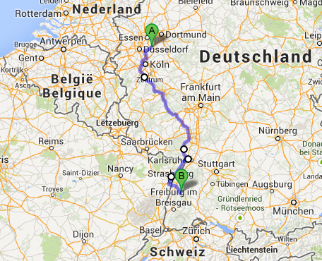 Test October - Germany map autobahn