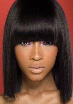 Long Bob Black Hair Styles 2011