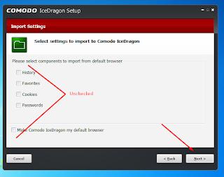 COMODO IceDragon step 2